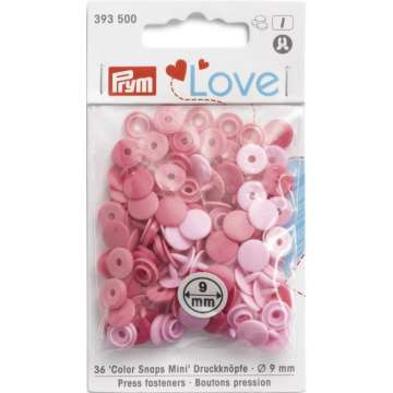 Prym Love Color Snaps Mini, rosa