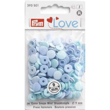 Prym Love Color Snaps Mini, hellblau