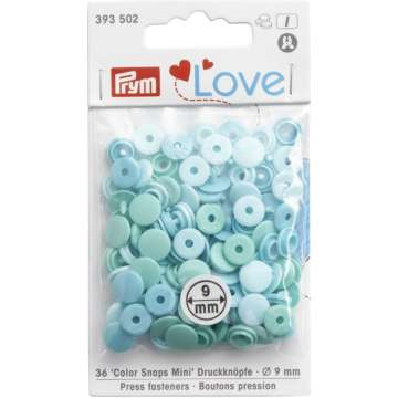 Prym Love Color Snaps Mini, mint