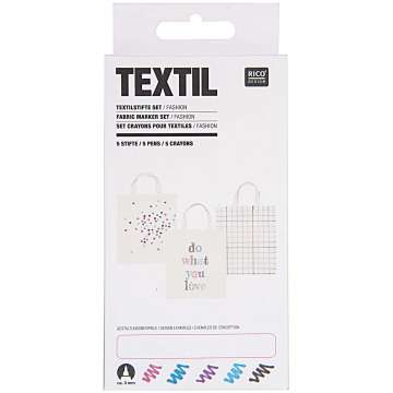 Textilstifte Set, Fashion